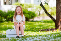 Little girl spring portrait Stock Photography