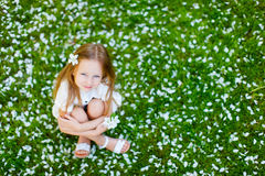 Little girl spring portrait Stock Photo