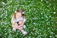 Little girl spring portrait Royalty Free Stock Photo