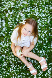 Little girl spring portrait Royalty Free Stock Images