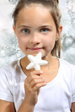 little girl with a star Stock Image
