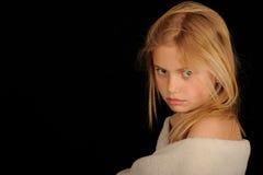 Little girl staring stock image