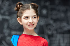 Little Girl Starting School Royalty Free Stock Photography
