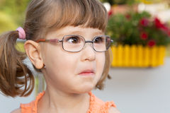 Little girl starts crying Royalty Free Stock Image