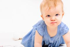 Free Little Girl Stay On All Fours Stock Images - 103084914