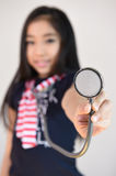 Little girl with stethoscope Royalty Free Stock Image