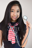 Little girl with stethoscope Stock Photo
