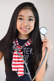Little girl with stethoscope Royalty Free Stock Images