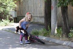 Little girl on street Stock Photos