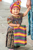 Little Girl in The Streets of Antigua Stock Photo