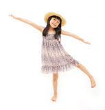 Little girl stretching Stock Photography