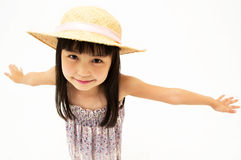 Little girl stretching Stock Image