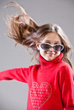 Little girl striking a pose Royalty Free Stock Photography