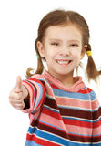 Little girl in striped sweater Royalty Free Stock Photography