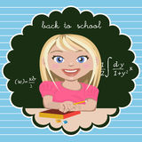 Little girl student Royalty Free Stock Photography