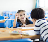 Little girl student  in the classroom Royalty Free Stock Photos