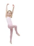 Little girl studing  ballet Royalty Free Stock Images