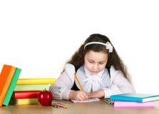 Little girl studing Royalty Free Stock Photos