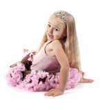 Little girl in studio Royalty Free Stock Photos