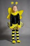 Little girl in studio Royalty Free Stock Image