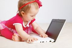 Little girl in studio Stock Photography