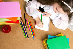 Little girl study Royalty Free Stock Image