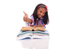 Little girl studying Stock Photo