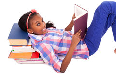 Little girl studying Royalty Free Stock Images