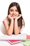 Little girl studying Stock Photography