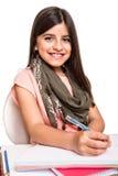 Little girl studying Royalty Free Stock Image