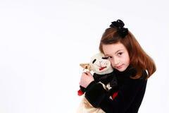 Little girl with stuffed animal Stock Photos