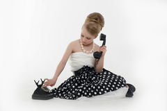 Little girl in the style of pin-up Stock Image