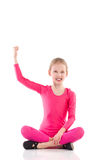 Little girl success Royalty Free Stock Image