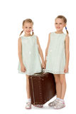 Little girl with suitcase Royalty Free Stock Photo