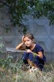 Little  girl in summer Stock Photography