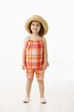 Little girl in summer dress Royalty Free Stock Photo