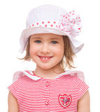 Little girl in summer hat. Stock Images