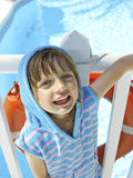 Little girl on summer holiday Royalty Free Stock Image