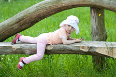 Little girl in a summer park Stock Photography