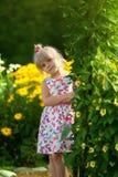 Little girl at a summer park. Portrait of a little girl at a summer park Royalty Free Stock Photos
