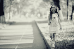 Little girl in summer  park Royalty Free Stock Photo