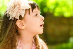 Little girl. Summer portrait of a cute little girl Royalty Free Stock Photos