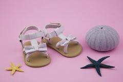 Little girl summer sandals Royalty Free Stock Photos