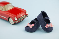 Little girl summer shoes Royalty Free Stock Image