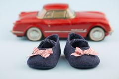 Little girl summer shoes Royalty Free Stock Photos