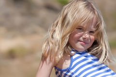 Little girl in summer sun Stock Photos