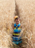 Little girl in a summer sundress Royalty Free Stock Photo