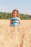 Little girl in a summer sundress Royalty Free Stock Photos