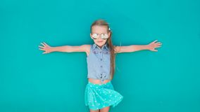 Little girl on summer vacation background Royalty Free Stock Photos