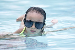 Little Girl In The Sun Royalty Free Stock Photography